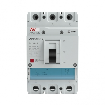 Автоматический выключатель AV POWER-1/3 160А 35kA TR