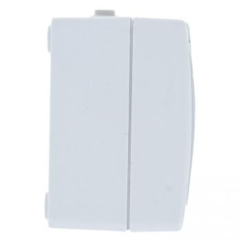 Венеция Розетка 2-местная 16А с заземлением с крышкой IP54 белый с защ. штор. EKF