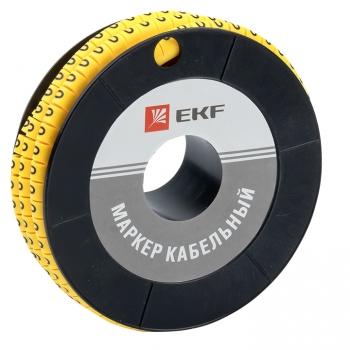 "Маркер кабельный 4,0 мм2 ""0"" (500 шт.) (ЕС-2) EKF PROxima"