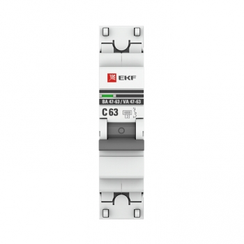 Автоматический выключатель 1P 63А (C) 6кА ВА 47-63 EKF PROxima