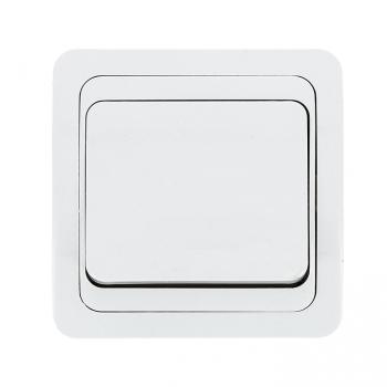 Лондон Выключатель 1-клавишный 10А белый EKF PROxima