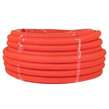 Труба гофр. ПНД Plast с зондом d50мм (20м.) оранжевая EKF PROxima