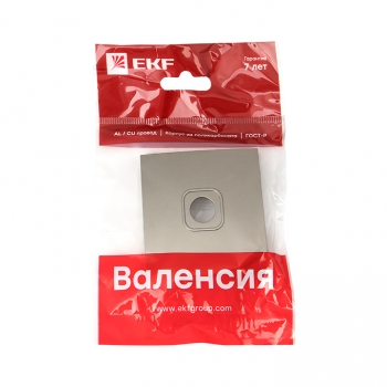 Валенсия лицевая панель розетки TV 1-местная 75Ом 5-862МГц кашемир EKF PROxima