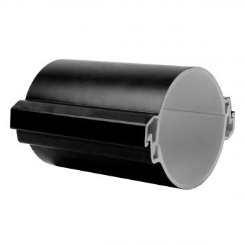 Труба гладкая разборная ПВХ 110 мм (750Н), черная EKF PROxima