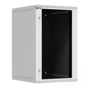 Шкаф телекоммуникационный настенный 18U (600х650) дверь стекло, Astra A серия EKF Basic