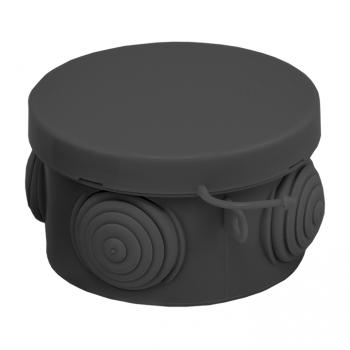 Коробка распаячная КМР-040-038 с крышкой (65х40) 4 мембр. Ввода чёрная IP54 EKF