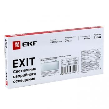 Светильник аварийного освещения EXIT-100 одностор. без пиктограммы LED EKF Basic
