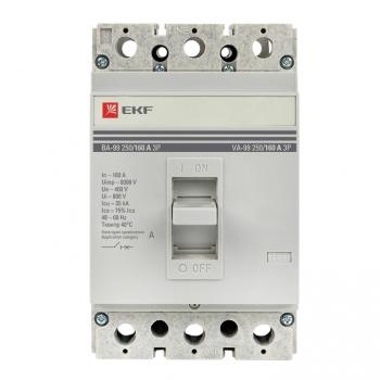 Автоматический выключатель ВА-99  250/160А 3P 35кА без коннекторов EKF PROxima