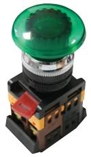 Кнопка AELA-22 зеленая с подсветкой NO+NC 380В Грибок EKF PROxima