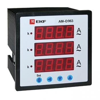 Амперметр AM-D963 цифровой на панель (96х96) трехфазный EKF PROxima