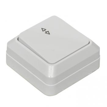 Рим Выключатель проходной 1-клавишный 10А белый EKF