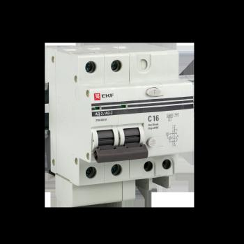 Дифференциальный автомат АД-2 S 50А/100мА (хар. C, AC, электронный, защита 270В) 6кА EKF PROxima