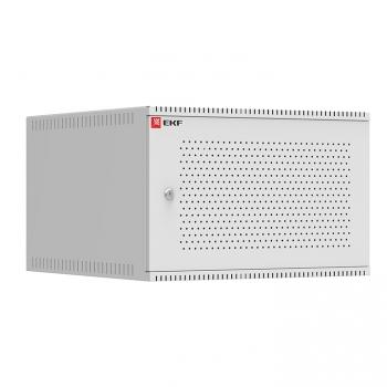 Шкаф телекоммуникационный настенный 6U (600х650) дверь перфорированная, Astra A серия EKF Basic