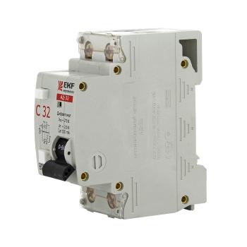Дифференциальный автомат АД-32 6А/30мА (характеристика C, тип AC) 4,5кА EKF