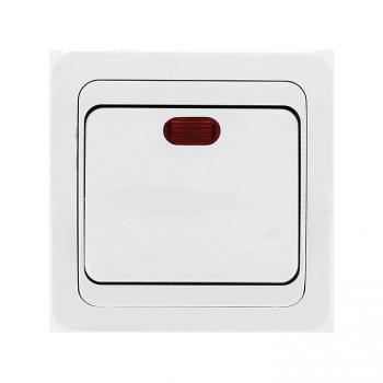 Лондон Выключатель 1-клавишный с индикатором 10А белый EKF PROxima