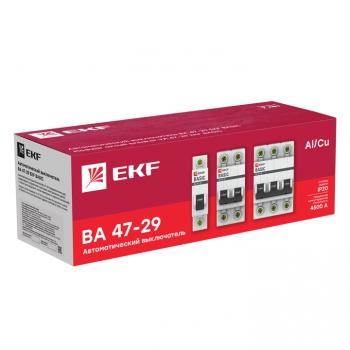 Автоматический выключатель 1P 10А (B) 4,5кА ВА 47-29 EKF Basic