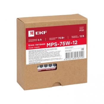 Блок питания 12В MPS-75W-12 EKF Proxima