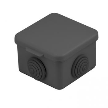 Коробка распаячная КМР-030-036,  4 мембр.ввода (65х65х50) чёрная EKF
