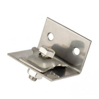 Держатель прутка 6-10 мм на угловой опоре с крепежными отверстиями, нерж. EKF