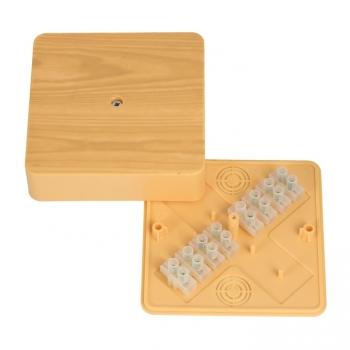 Коробка разветвительная КМР-030-032кг (104х104х28)  с клеммником светлое дерево EKF PROxima