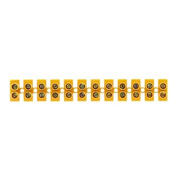 Колодка клеммная (60мм.) 150А полистирол желтая (5шт.) EKF PROxima