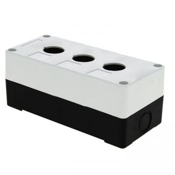 Корпус КП103 пластиковый 3 кнопки белый EKF PROxima