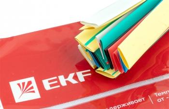 Термоусаживаемая трубка ТУТ нг 8/4 набор:7 цветов по 3шт. 100мм. EKF PROxima
