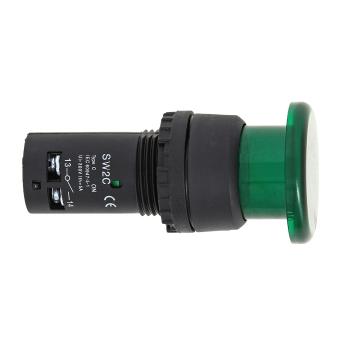 Кнопка SW2C-MD зеленая с подсветкой NO EKF PROxima