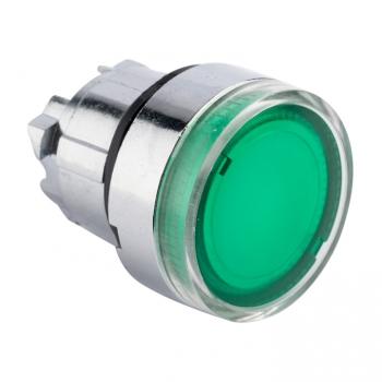 Исполнительный механизм кнопки XB4 зеленый плоский возвратный без фиксации, с подсветкой EKF PROxima
