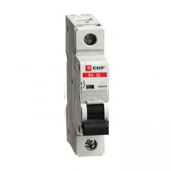 Автоматический выключатель ВА-63, 1P 10А (C) 10kA EKF