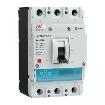 Автоматический выключатель AV POWER-1/3 100А 50kA ETU6.2