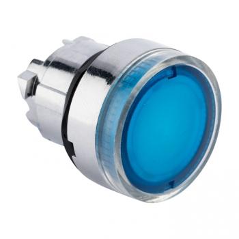 Исполнительный механизм кнопки XB4 синий плоский  возвратный без фиксации, с подсветкой EKF PROxima