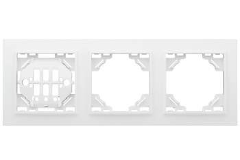 Минск Рамка 3-местная горизонтальная белая EKF  Basic