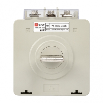 Трансформатор тока ТТЕ-A-400/5А с клеммой напряжения класс точности 0,5 EKF PROxima