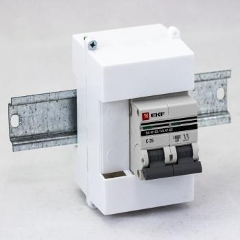 Пломбиратор вводного автомата на DIN-рейку 2 модуля EKF PROxima