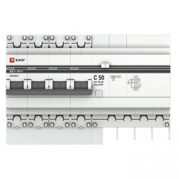 Дифференциальный автомат АД-4 50А/ 30мА (хар. C, AC, электронный, защита 270В) 4,5кА EKF PROxima