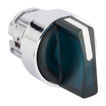 Исполнительный механизм переключателя ХB4 синий на 2 положения возвратный без фиксации, без подсветки с короткой ручкой EKF PROxima