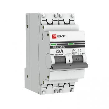 Выключатель нагрузки 2P 20А ВН-63 EKF PROxima