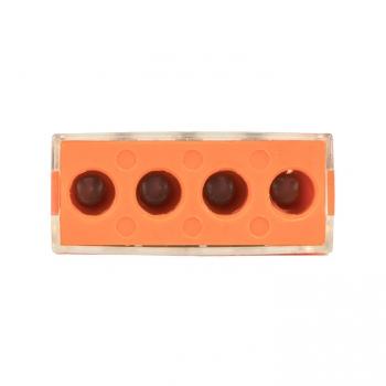 Клемма СМК 773-174 (с пастой), 4 отверстия, 2,5-6,0 мм2 (уп.4шт.) EKF PROxima