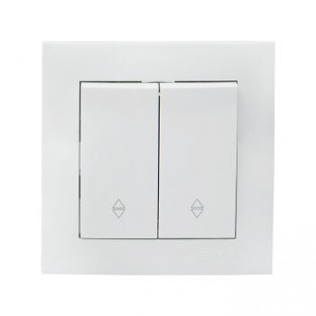 Валенсия выключатель 2-кл. 10А белый проходной EKF PROxima