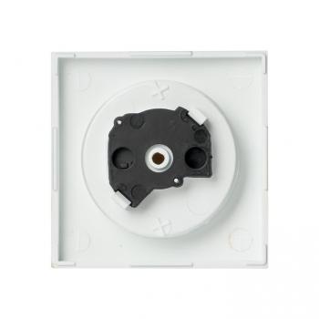 Валенсия лицевая панель розетки 1-местной б/з 10 А сталь с защ. штор. EKF PROxima