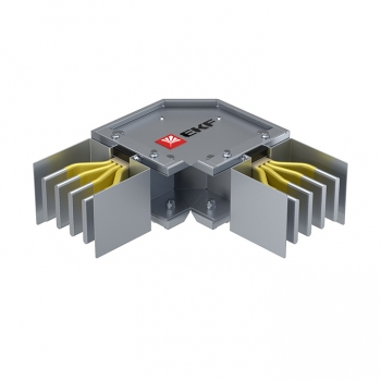 Угловая горизонтальная секция 1600 А IP55 AL 3L+N+PE(КОРПУС)
