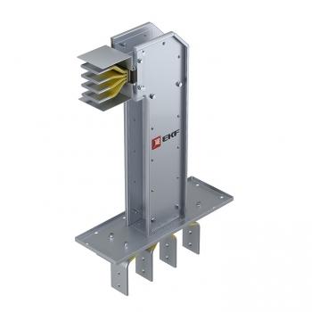 Фланцевая секция с горизонтальным углом для подключения к щиту  1250 А IP55 AL 3L+N+PE(КОРПУС)