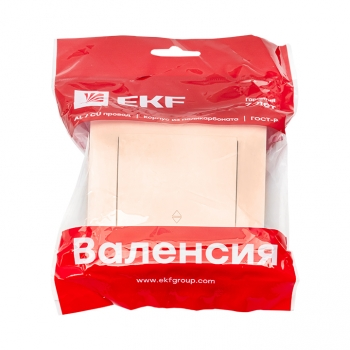 Валенсия выключатель 1-кл. 10А кремовый проходной EKF PROxima