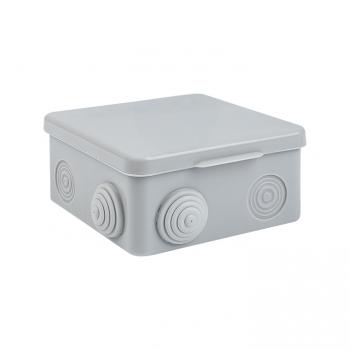 Коробка распаячная КМР-030-031 с крышкой наружная (80х80х50) 7 мембранных вводов IP54 розничный стикер EKF PROxima