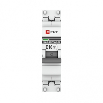 Автоматический выключатель 1P 6А (D) 6кА ВА 47-63 EKF PROxima