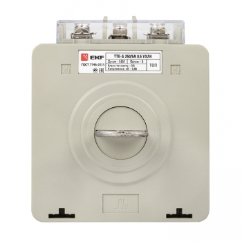 Трансформатор тока ТТЕ-A-250/5А с клеммой напряжения класс точности 0,5 EKF PROxima