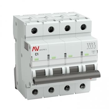 Выключатель автоматический AV-10 4P  1A (C) 10kA EKF AVERES