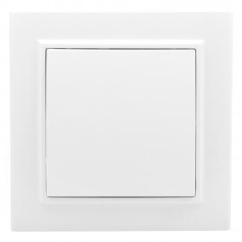 Минск Выключатель 1-клавишный СП проходной, 10А, белый EKF Basic