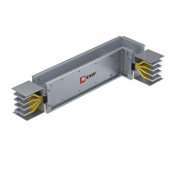 Угловая вертикальная секция c нестандартным плечом 1000 А IP55 AL 3L+N+PE(КОРПУС)